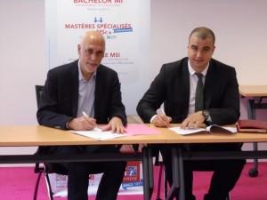 Accord de partenariat entre L'EM Normandie et l'EMPSI