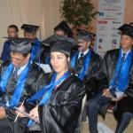 Lors de la cérémonie de remise de diplôme aux lauréats 2013-2014 en présence du General Manager Badreddine BOUCHOUIRAB et du PDG de l'ESJ de paris Guillaume JOBIN