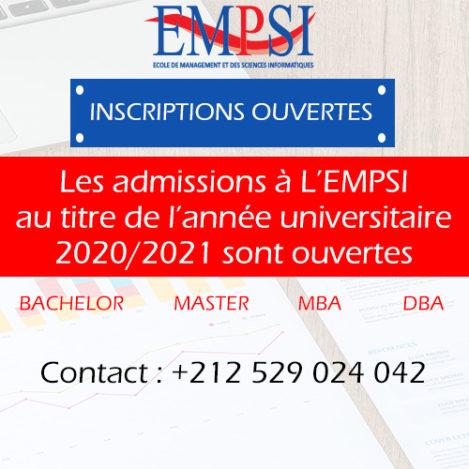 inscriptions ouvertes EMPSI